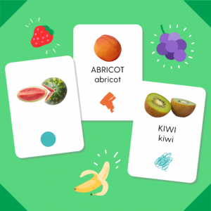 "Pack de cartes ""Les fruits"""