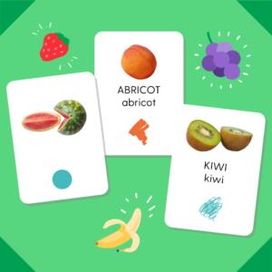 "Pack de cartes ""Les fruits"""