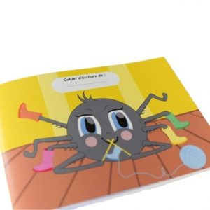 """Cahier d'écriture """"Une araignée sur le plancher"""""""