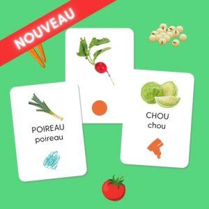 """Pack de cartes """"Légumes"""""""
